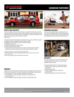 Dodge Caravan Features by Dodge