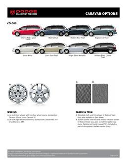 Dodge Caravan Colors and Wheels 2007 by Dodge