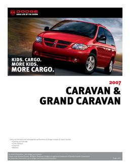 Dodge Caravan and Grand Caravan InfoSheet 2007 by Dodge