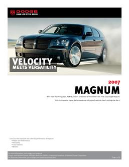 Dodge Magnum InfoSheet 2007 by Dodge