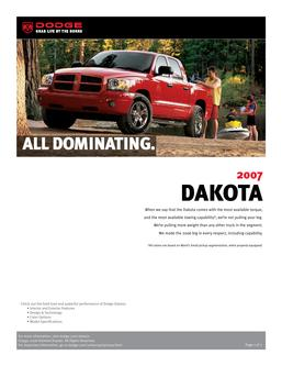 Dodge Dakota InfoSheet 2007