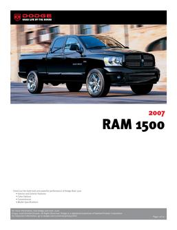 Dodge RAM 1500 InfoSheet 2007 by Dodge