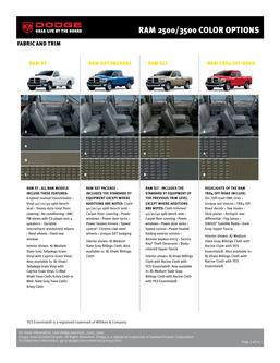 Catalogue: Dodge Dodge RAM 2500/3500 Colors and Wheels 2007