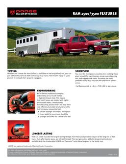 Dodge RAM 2500/3500 Features 2007