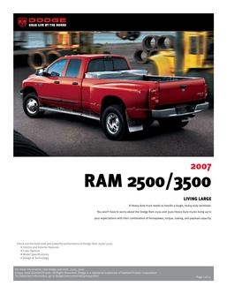 Dodge RAM 2500/3500 InfoSheet 2007 by Dodge