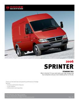 Dodge Sprinter InfoSheet 2007