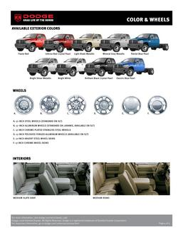 Dodge RAM 3500 Chassis Cab Colors & Wheels 2007