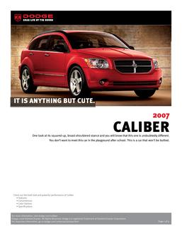 Dodge Caliber InfoSheet 2007