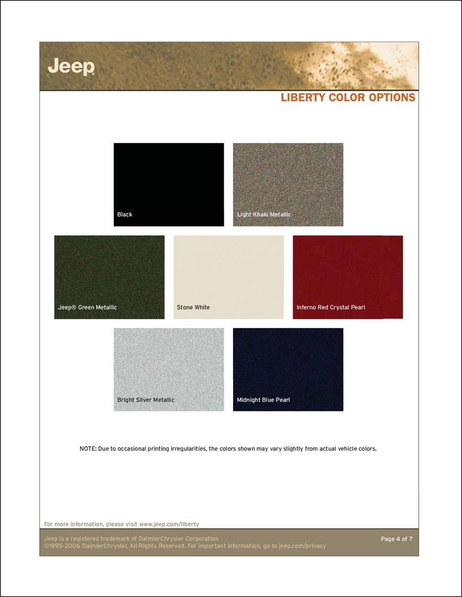 Jeep Cherokee Paint Colors
