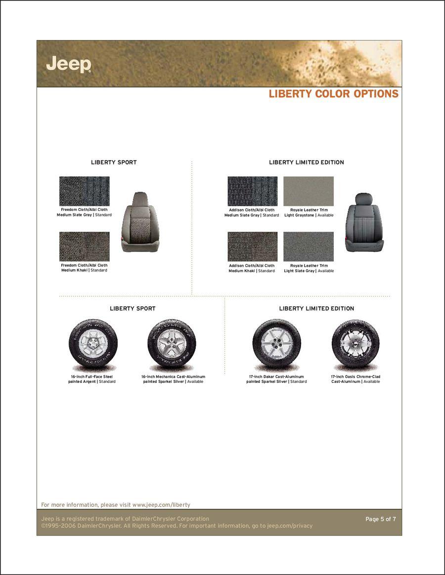 2007 Jeep Liberty InfoSheet by Jeep