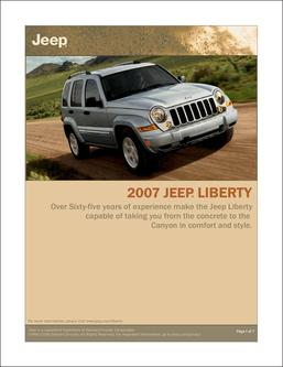 2007 Jeep Liberty InfoSheet