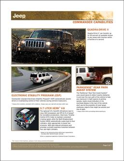 JEEP Commander Capabilities 2007