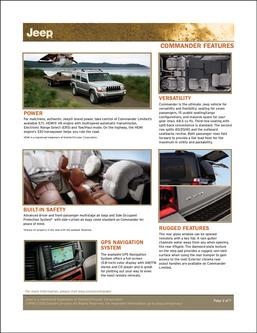 Jeep Commander Features 2007