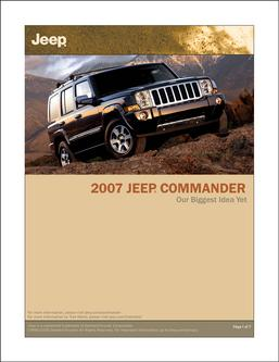 2007 Jeep Commander InfoSheet