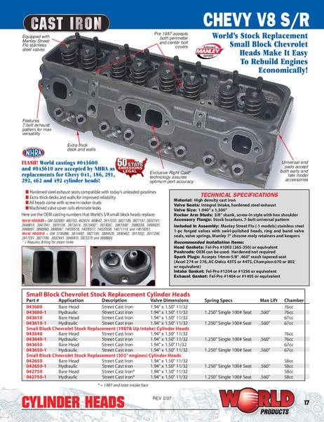 Chevy SB Cylinder Head ID Guide  Engine Technology