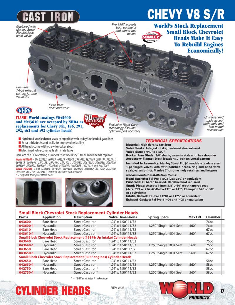 gm cylinder head casting number 3884520 in Small Block