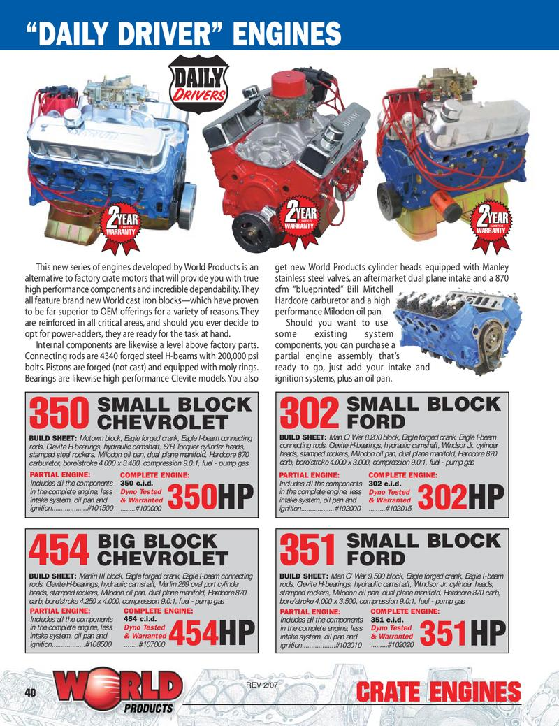 Page 2 of Big Block Chevrolet Merlin Engine Family