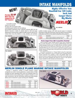 merlin intakes in Big Block Chevrolet Merlin Intake