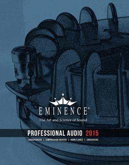 Eminence Pro Audio Catalogue 2015