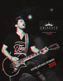 Eminence Guitar & Bass Speakers 2015