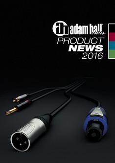 Adam Hall Cables Product News 2016