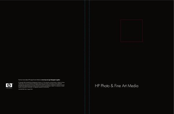Catalogue: Hewlett-Packard HP Photo & Fine Art Media