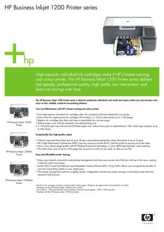 HP Business Inkjet 1200 Printer Series