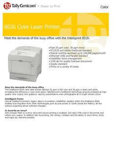 8026 Color Laser Printer