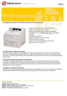 9035 Monochrome Laser Printer