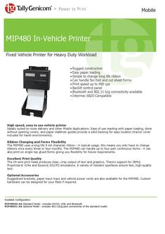 MIP480 In-Vehicle Printer