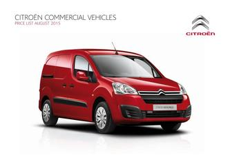 Citroen Van Range Price List 2015