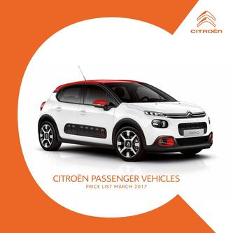 Citroën Range Price List 2017