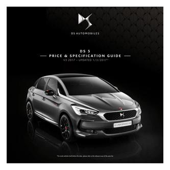 DS 5 Price and Specification Guide 2017