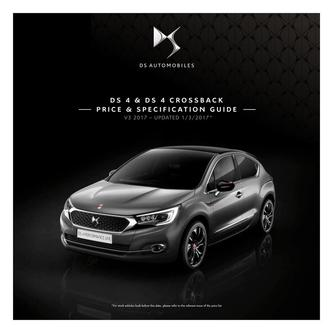 DS 4 and DS 4 Crossback Price and Specification Guide 2017