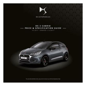 DS 3 Cabrio Price and Specification Guide 2017