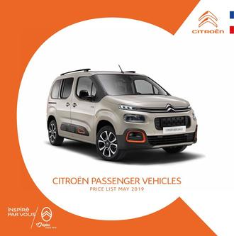 Citroën Range Price List May 2019