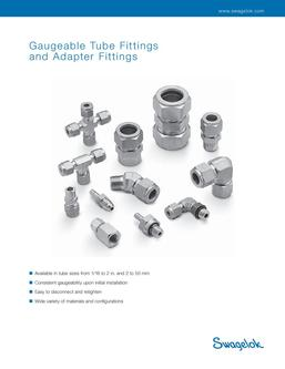 Gaugeable Tube Fittings and Adapter Fittings