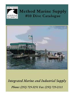 Catalogue: Method Marine Supply #10 Dive Catalog