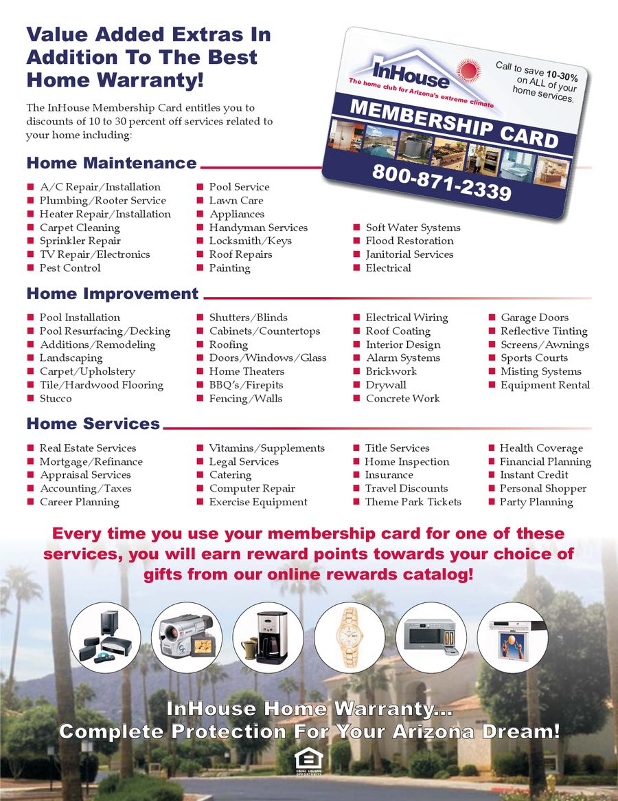 The home warranty for Arizona's extreme climate by InHouse Warranty