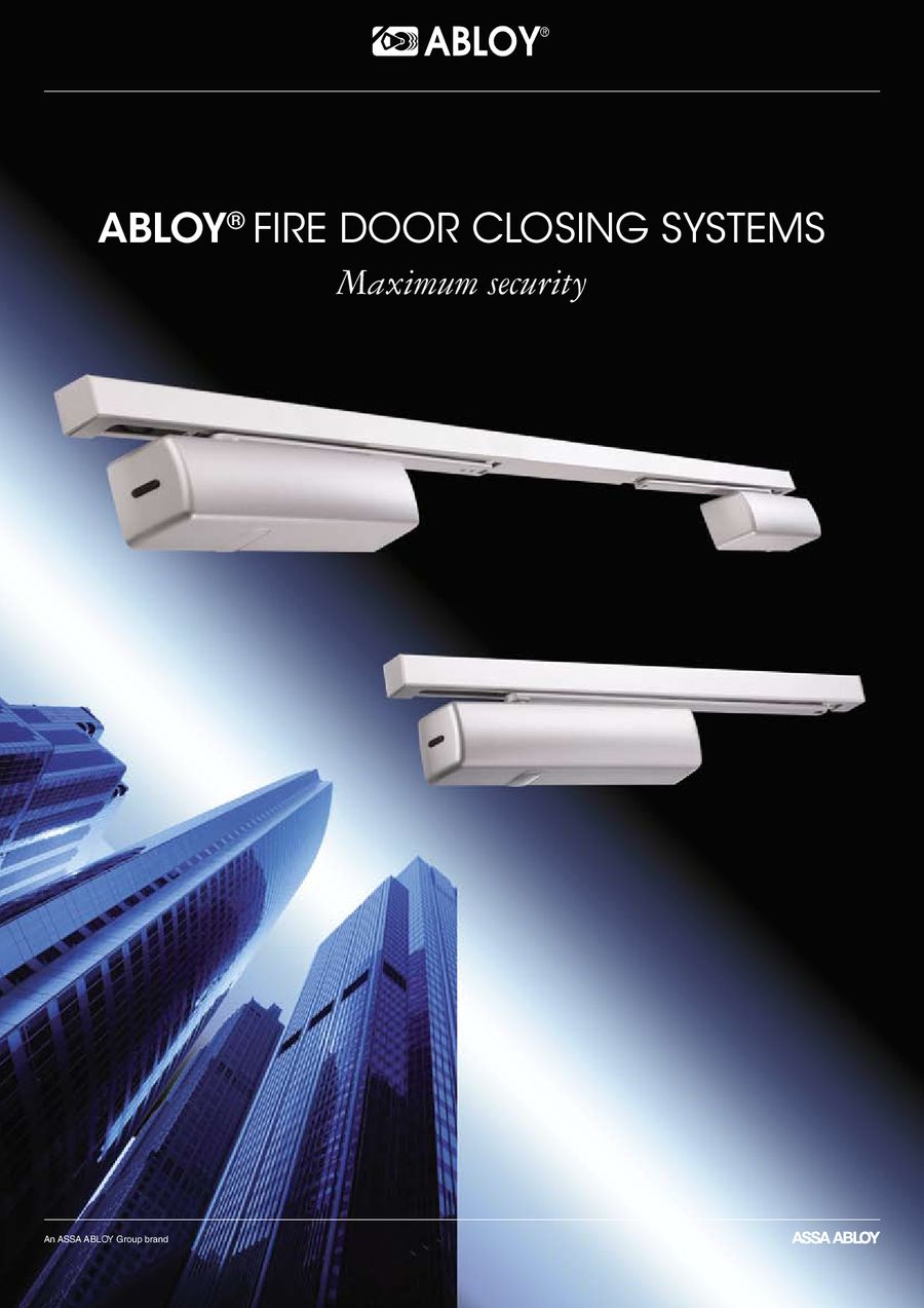 & Fire Door Closing Systems by Assa Abloy
