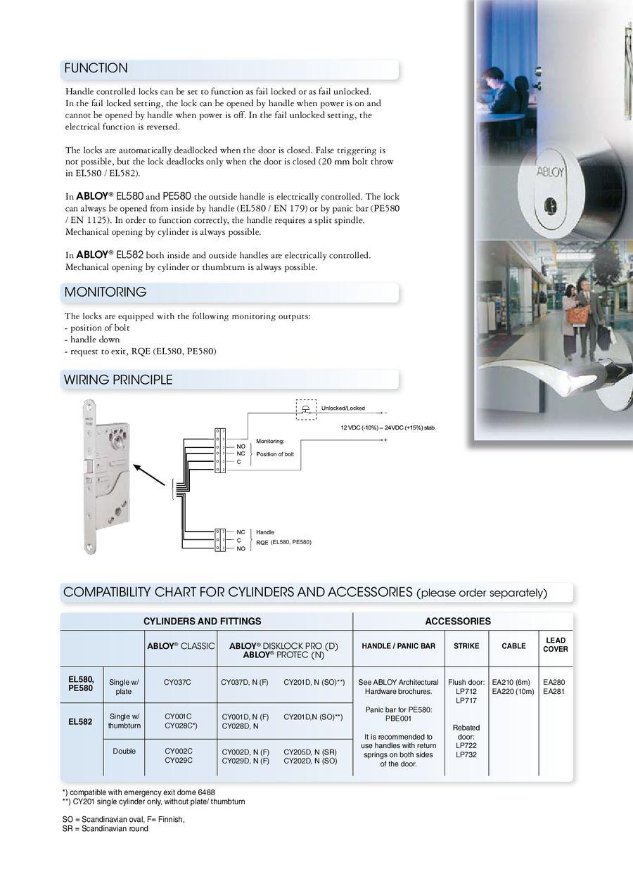 Scandinavian Range Solenoid Lock With Handle Control By Assa Abloy Type 15 Wiring Diagram