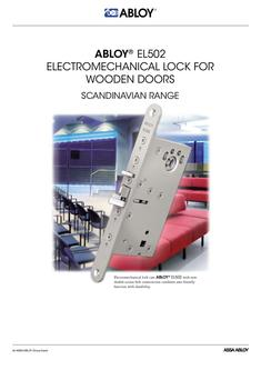 Electromechanical lock for wooden doors SCANDIVNAVIAN RANGE
