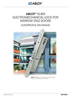 Electromechanical lock for narrow stile doors DIN RANGE