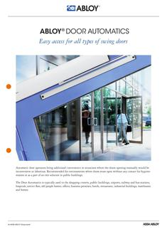 Door Automatics - Easy access for all types of swing doors