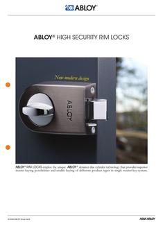 High security rim locks
