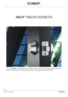 Tubular Deadbolts