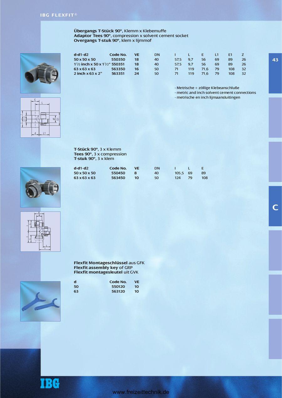 IBG/® FlexFit/® Doppelverschraubung Klemm Klemm d 50 x d 50