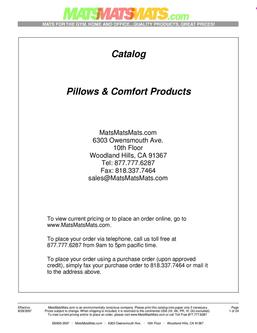 Pillows & Comfort Products