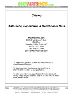 Anti-Static, Conductive, and Switchboard Mats