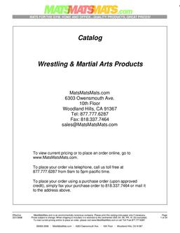 Wrestling/Martial Arts Products